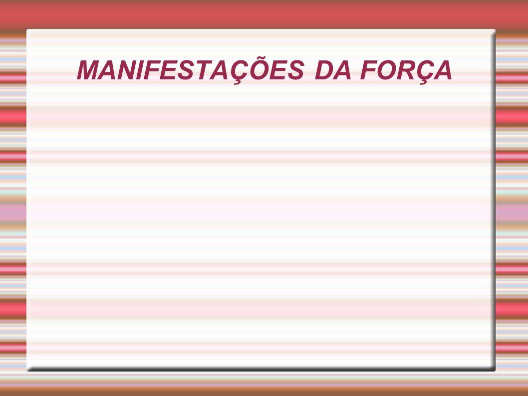 FORÇA MÁXIMA Representa a maior força disponível, que o sistema neuromuscular pode mobilizar através de uma contração máxima voluntária.