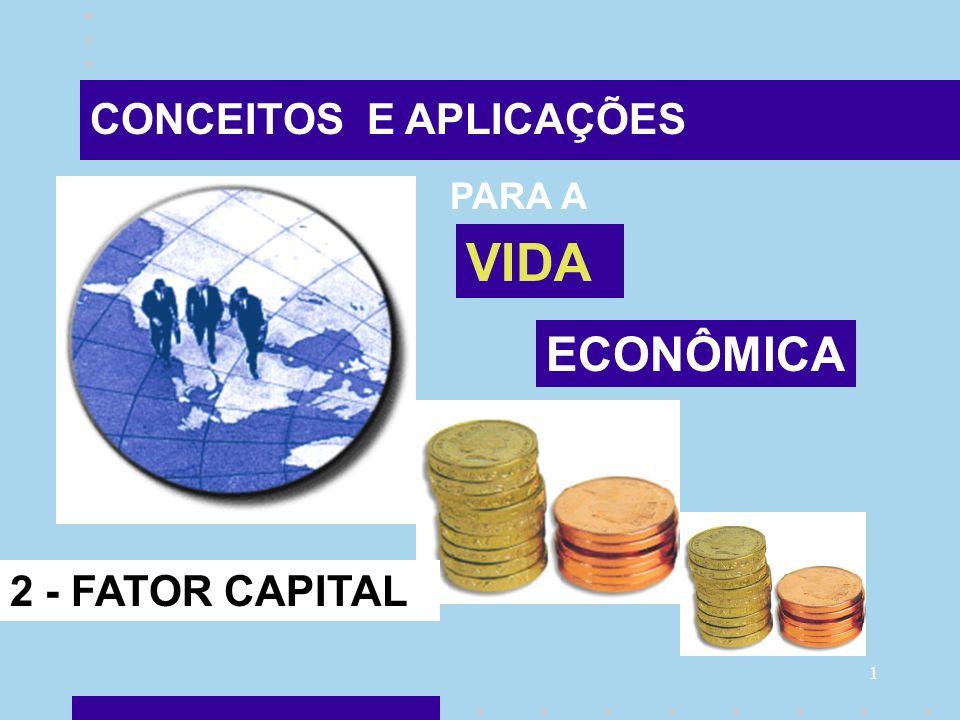 1 CONCEITOS E APLICAÇÕES PARA A VIDA ECONÔMICA 2 - FATOR CAPITAL