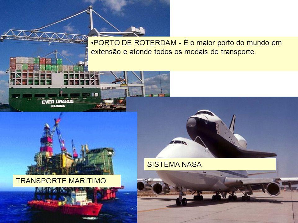 23 PORTO DE ROTERDAM - É o maior porto do mundo em extensão e atende todos os modais de transporte. Sistema SISTEMA NASA TRANSPORTE MARÍTIMO
