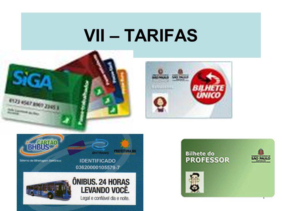 1 VII – TARIFAS