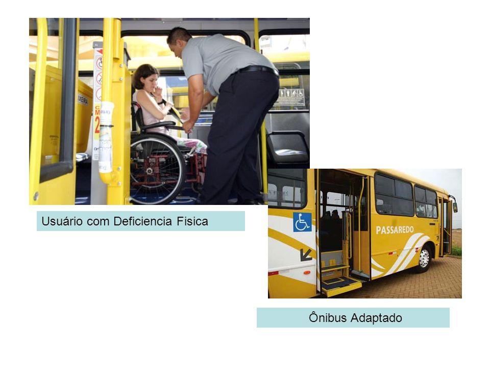 Usuário com Deficiencia Fisica Ônibus Adaptado