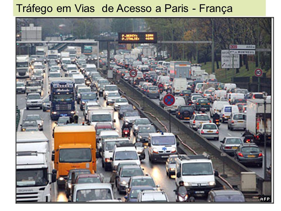 24 Tráfego em Vias de Acesso a Paris - França