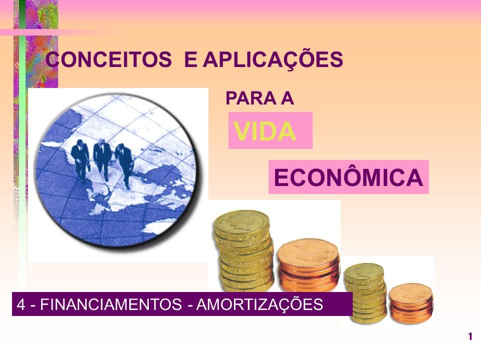 1 CONCEITOS E APLICAÇÕES PARA A VIDA ECONÔMICA 4 - FINANCIAMENTOS - AMORTIZAÇÕES