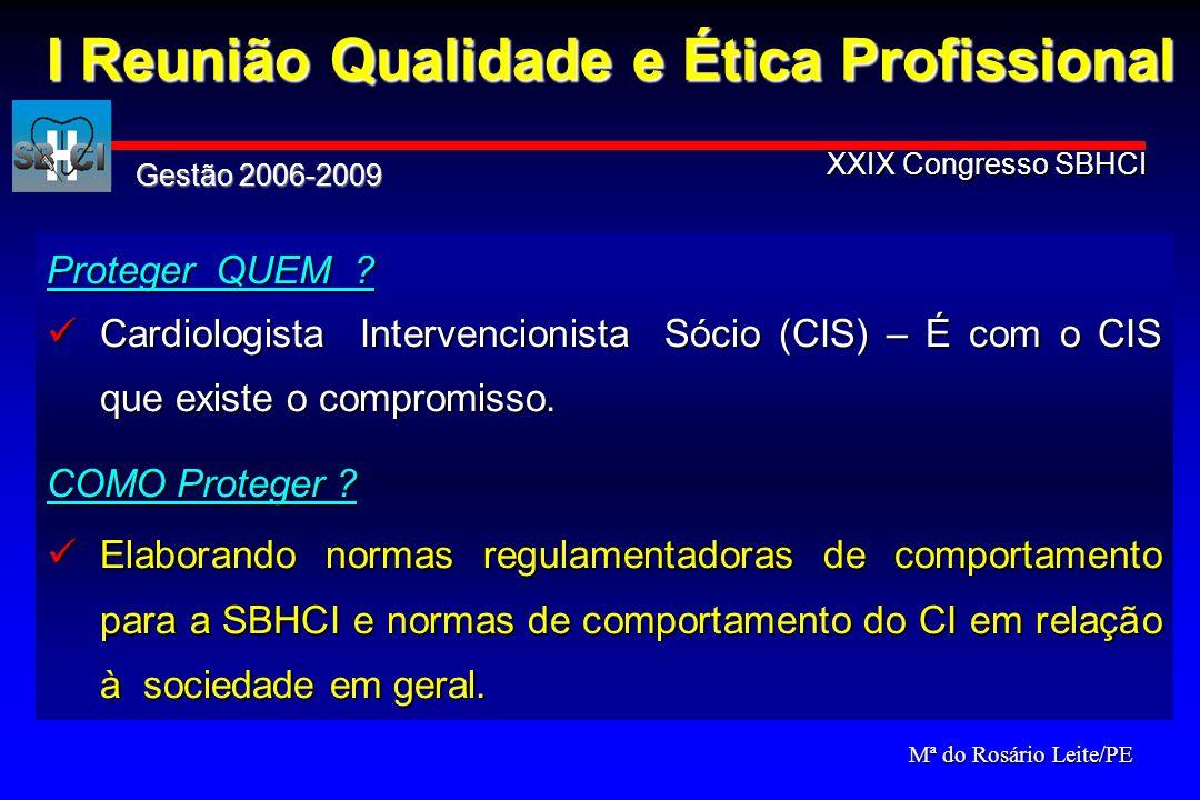Proteger QUEM ? Cardiologista Intervencionista Sócio (CIS) – É com o CIS que existe o compromisso. Cardiologista Intervencionista Sócio (CIS) – É com