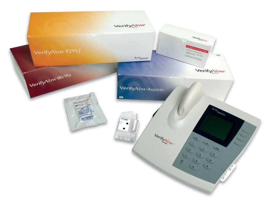 O VerifyNow é um aparelho importante e extremamente útil no meio hospitalar e laboratorial: Permite que o médico avalie a eficácia da droga e tome decisões terapêuticas (antes e durante o procedimento).