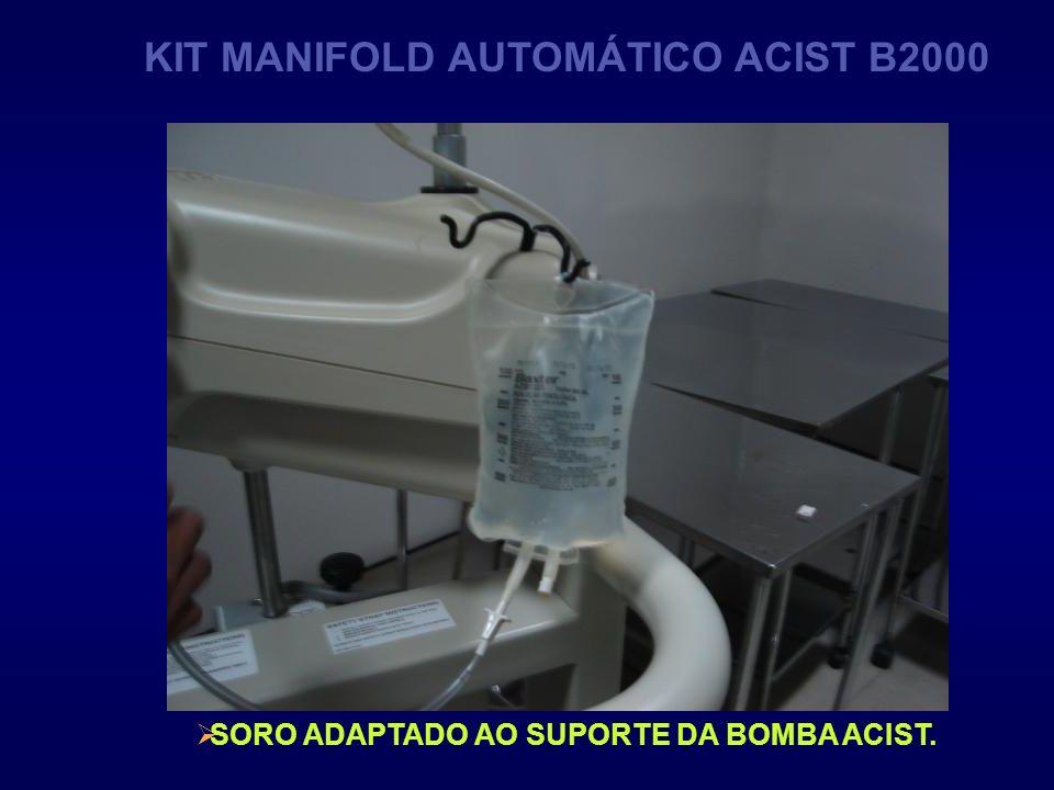 SORO ADAPTADO AO SUPORTE DA BOMBA ACIST. KIT MANIFOLD AUTOMÁTICO ACIST B2000