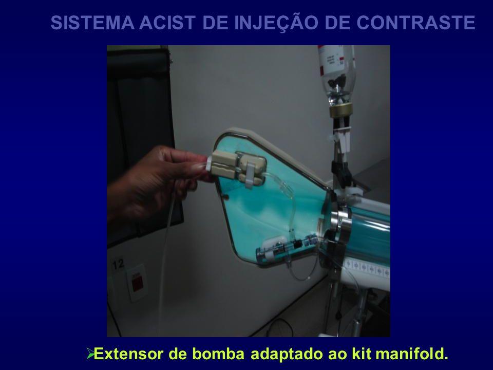 Extensor de bomba adaptado ao kit manifold. SISTEMA ACIST DE INJEÇÃO DE CONTRASTE