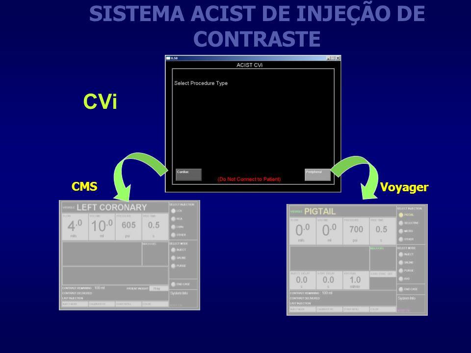 SISTEMA ACIST DE INJEÇÃO DE CONTRASTE CMS Voyager CVi