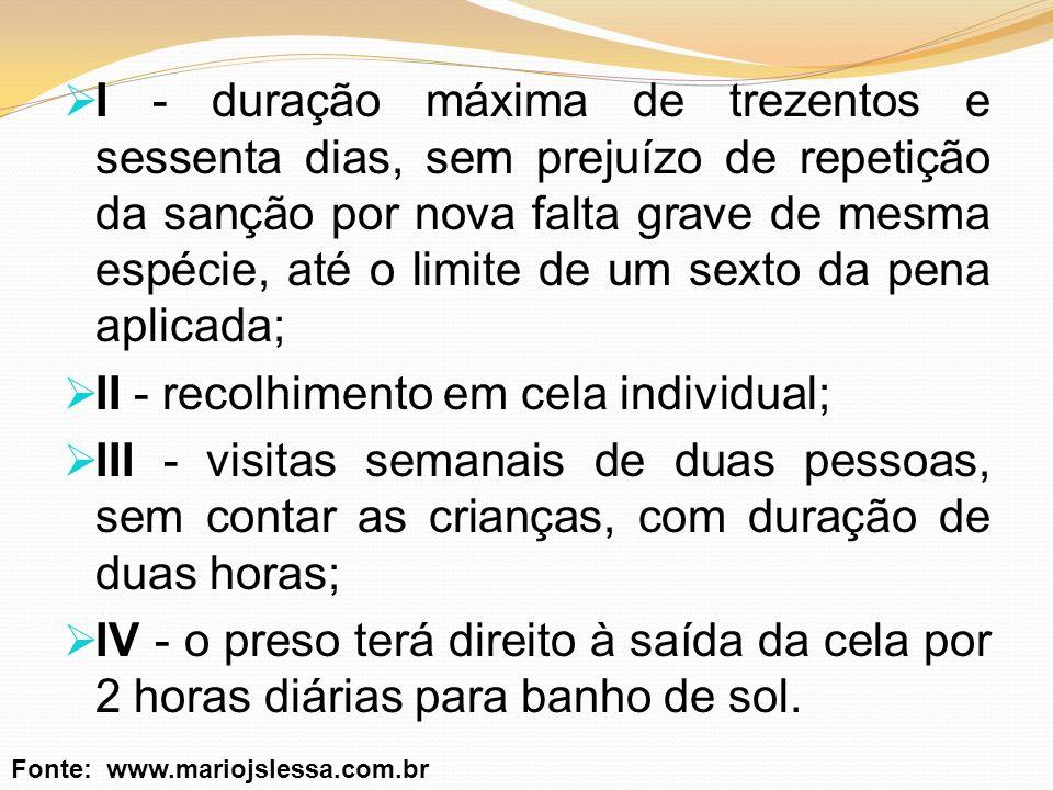 Sobre o RDD O § 1°, do art.52, da LEP (incluído pela Lei 10.792/2003).
