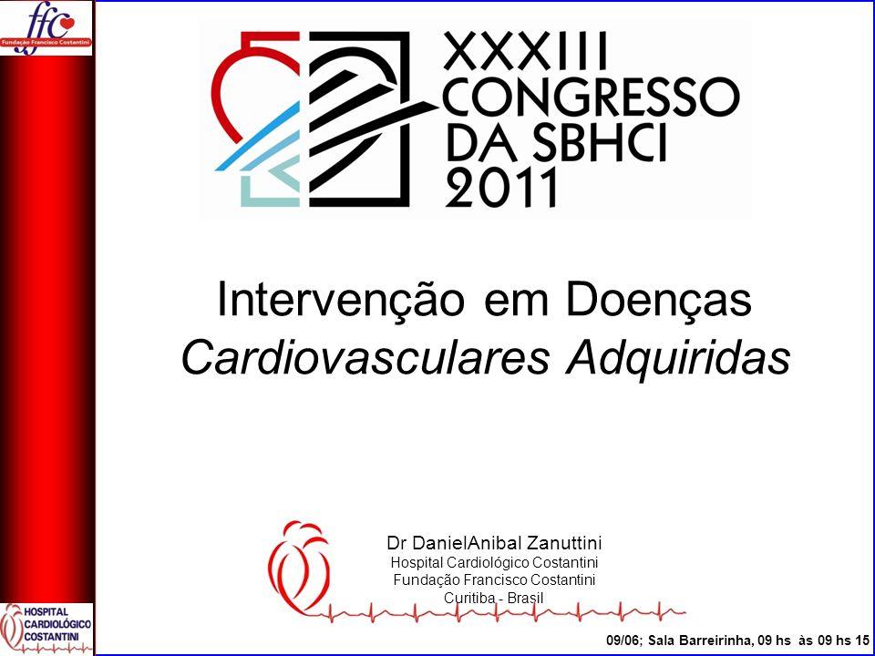 Lesões de Tronco Evolução á 2 anos 78 Pacientes Costantini et al; in press SBHCI Journal 2011
