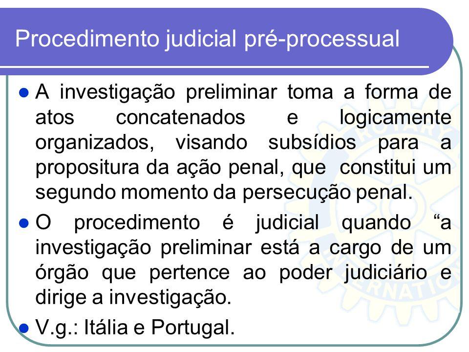 Controvérsia Investigação presidida pelo Ministério Público. Embora de caráter administrativo, porque se realiza antes de proposta a ação penal, a som