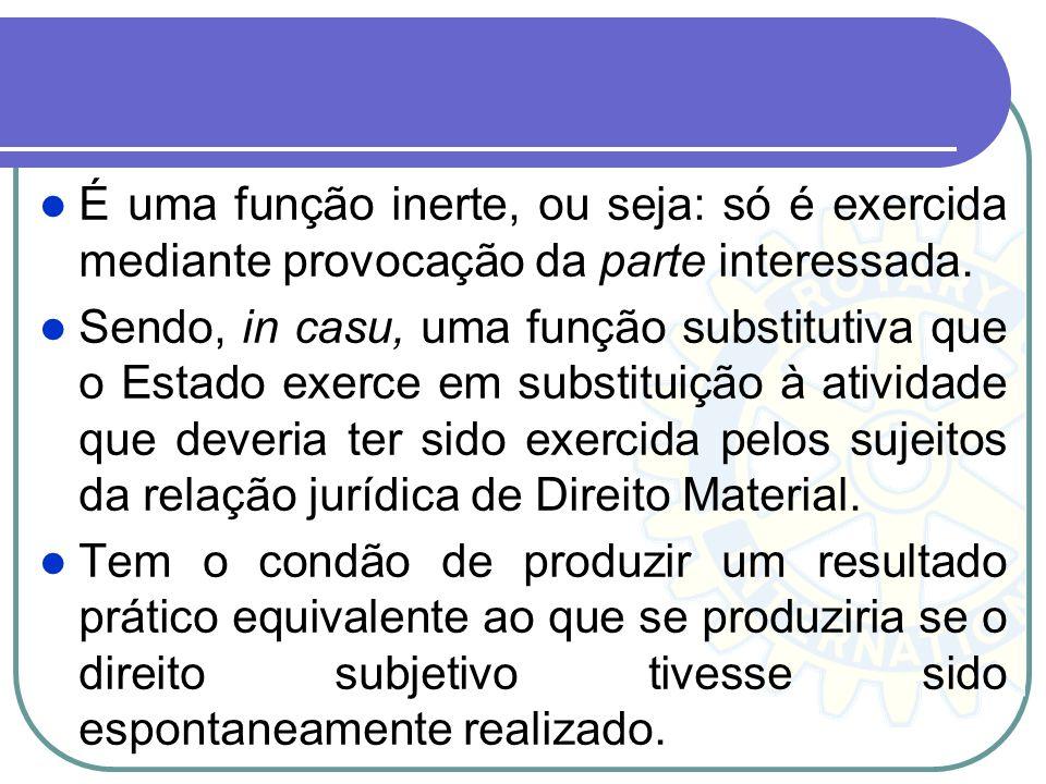O Direito Processual ou direito adjetivo, reúne os princípios e normas que dispõem sobre a jurisdição. É o exercício da função típica do poder judiciá