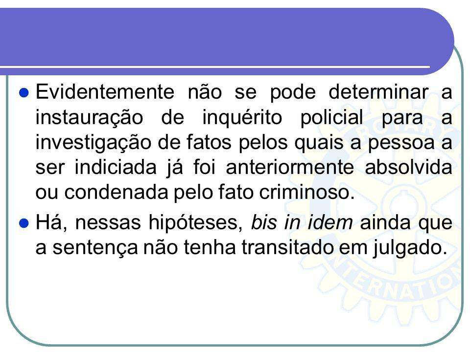 Não se impede, porém, a instauração de inquérito policial referente a crime cuja autoria é ignorada, eis que é no âmbito do procedimento que se devem