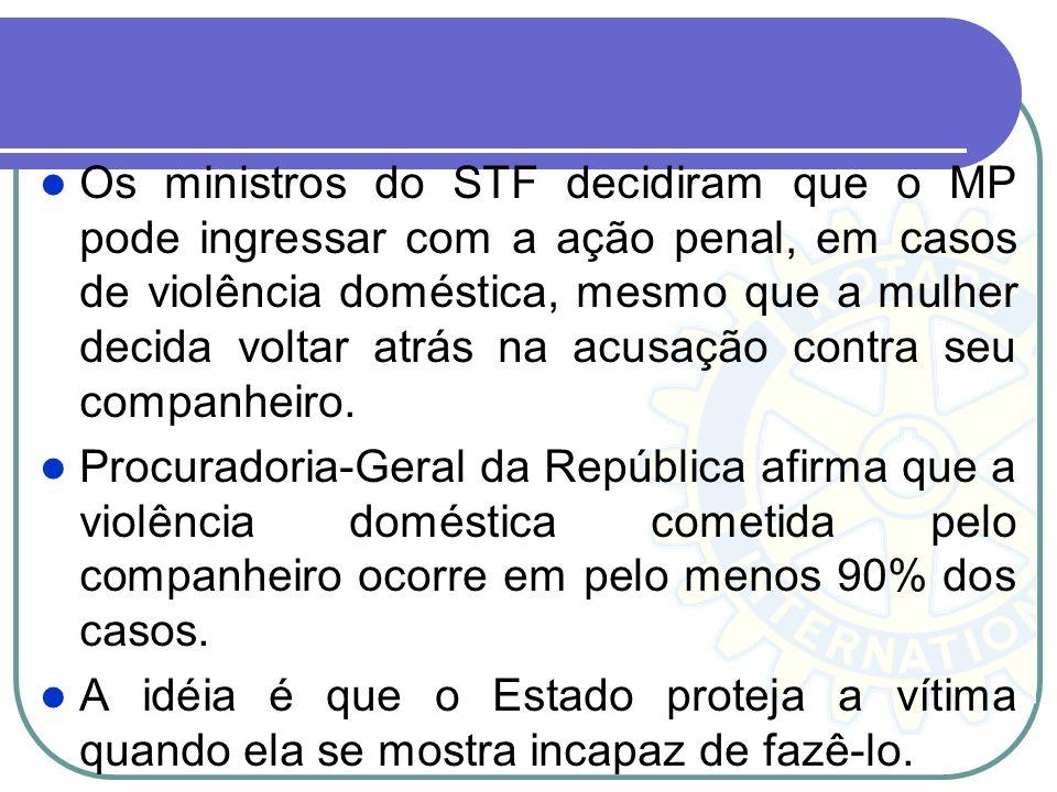 Lei Maria da Penha (11.340/06) O oferecimento de denúncia na Justiça contra quem agride no ambiente familiar não dependerá mais da vontade da vítima,