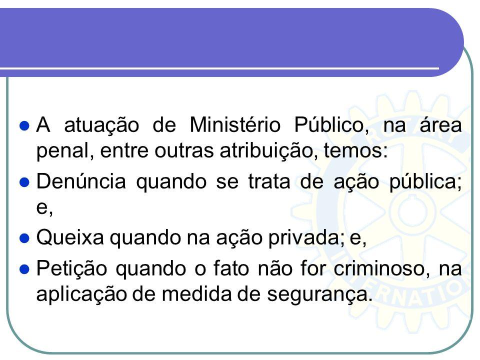 Ação Penal: Denúncia Denúncia - é o ato pelo qual o Promotor de Justiça, como Custus legis (guardião da lei), Da mihi factum, dabo tibi jus (dá-me o f