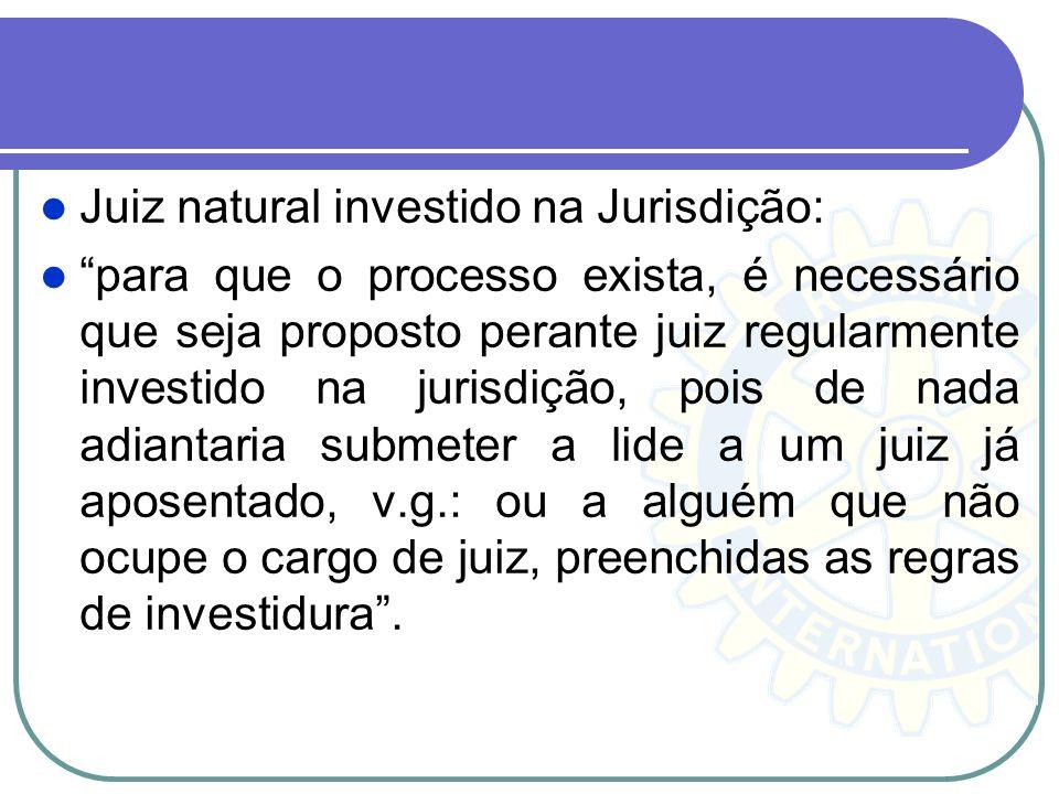 Pressupostos Processuais Petição inicial - em razão do princípio da inércia da jurisdição, que determina o início do processo, em regra, somente por i
