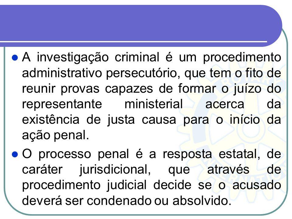 5. Persecução Penal Persecução Penal ou Persecutio criminis, é a persecução do crime ou persecução penal. Persecução é o mesmo que perseguição, ou sej