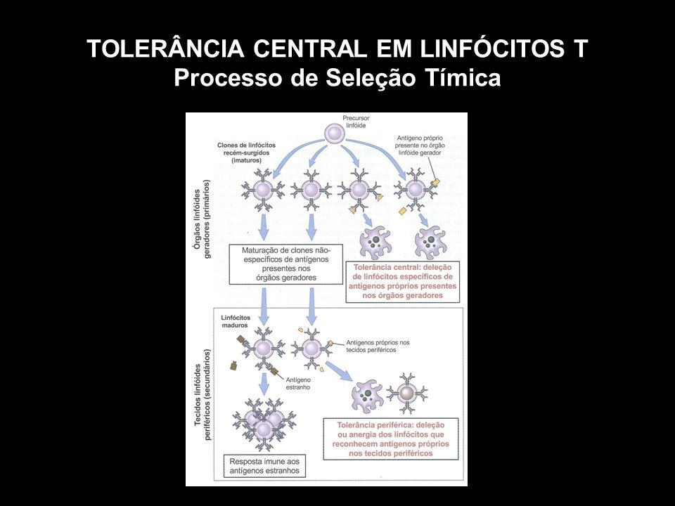 TOLERÂNCIA CENTRAL EM LINFÓCITOS T Processo de Seleção Tímica Figura 10-1