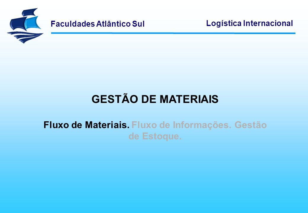 Faculdades Atlântico Sul Logística Internacional Gestão de Materiais