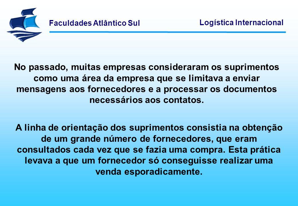Faculdades Atlântico Sul Logística Internacional Esta orientação não traz benefícios de longo prazo para nenhuma das partes.