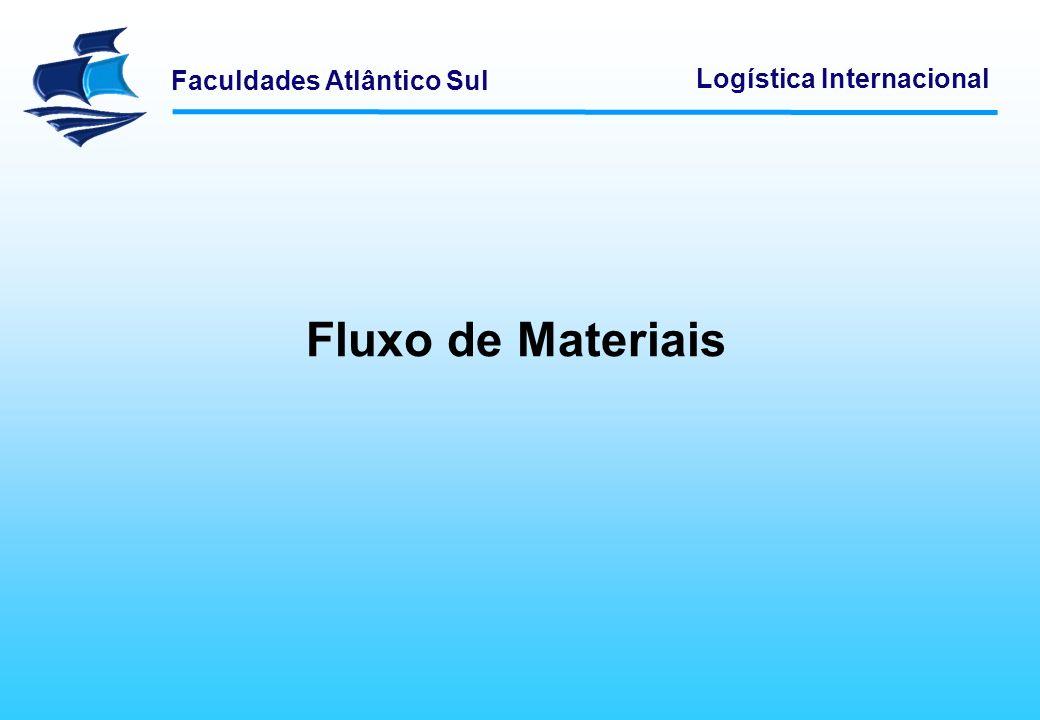 Faculdades Atlântico Sul Logística Internacional Algumas empresas têm tendência para constituírem estoques acima das necessidade reais.