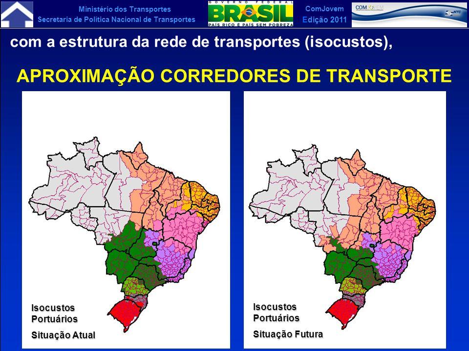 Ministério dos Transportes Secretaria de Política Nacional de Transportes ComJovem Edição 2011 com a estrutura da rede de transportes (isocustos), APR