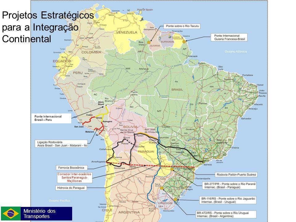 Ministério dos Transportes Secretaria de Política Nacional de Transportes ComJovem Edição 2011 Projetos Estratégicos para a Integração Continental Pon