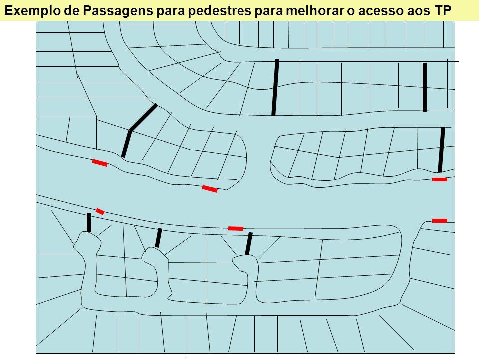 21 Exemplo de Passagens para pedestres para melhorar o acesso aos TP