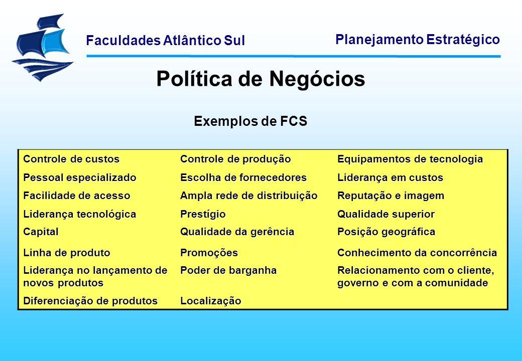 Faculdades Atlântico Sul Planejamento Estratégico MODELOS DE APOIO À DECISÃO