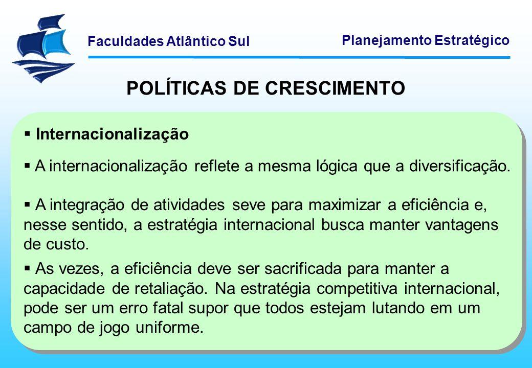 Faculdades Atlântico Sul Planejamento Estratégico ABORDAGENS ESTRATÉGICAS GENÉRICAS