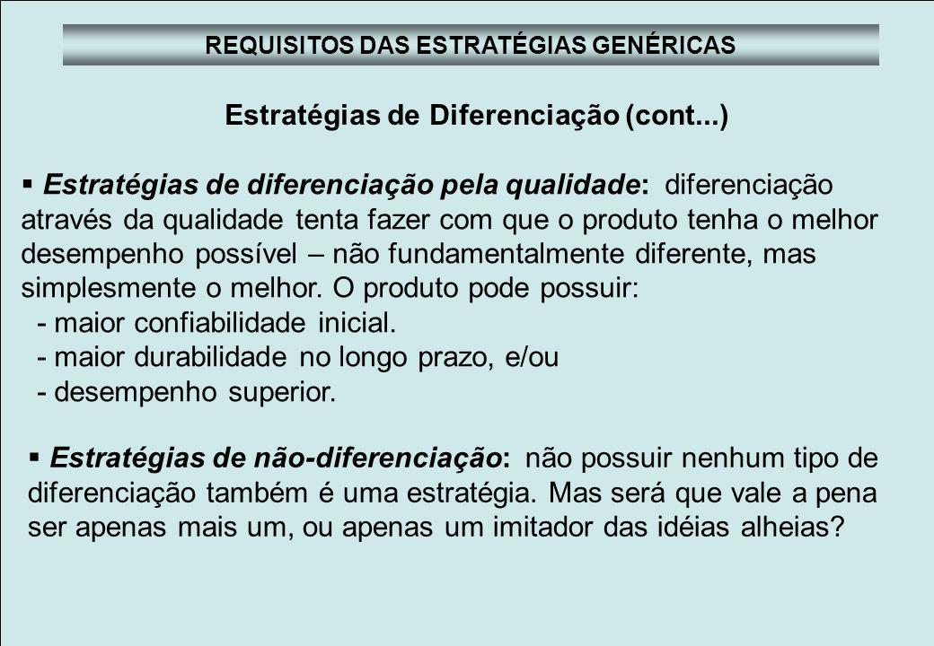 Faculdades Atlântico Sul Planejamento Estratégico REQUISITOS DAS ESTRATÉGIAS GENÉRICAS Estratégias de Enfoque Diferenciar o negócio é o enfoque dos produtos ou serviços oferecidos e a extensão de mercado no qual eles são vendidos.