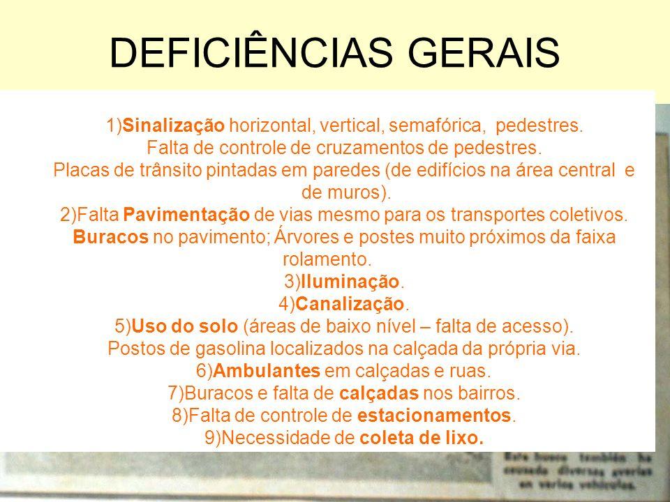 PRINCIPAIS TRABALHOS-VISITASPREPARATÓRIAS 1 Área Central.