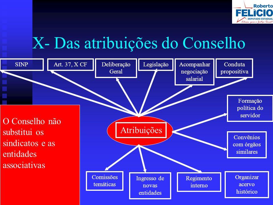 X- Das atribuições do Conselho SINPArt.