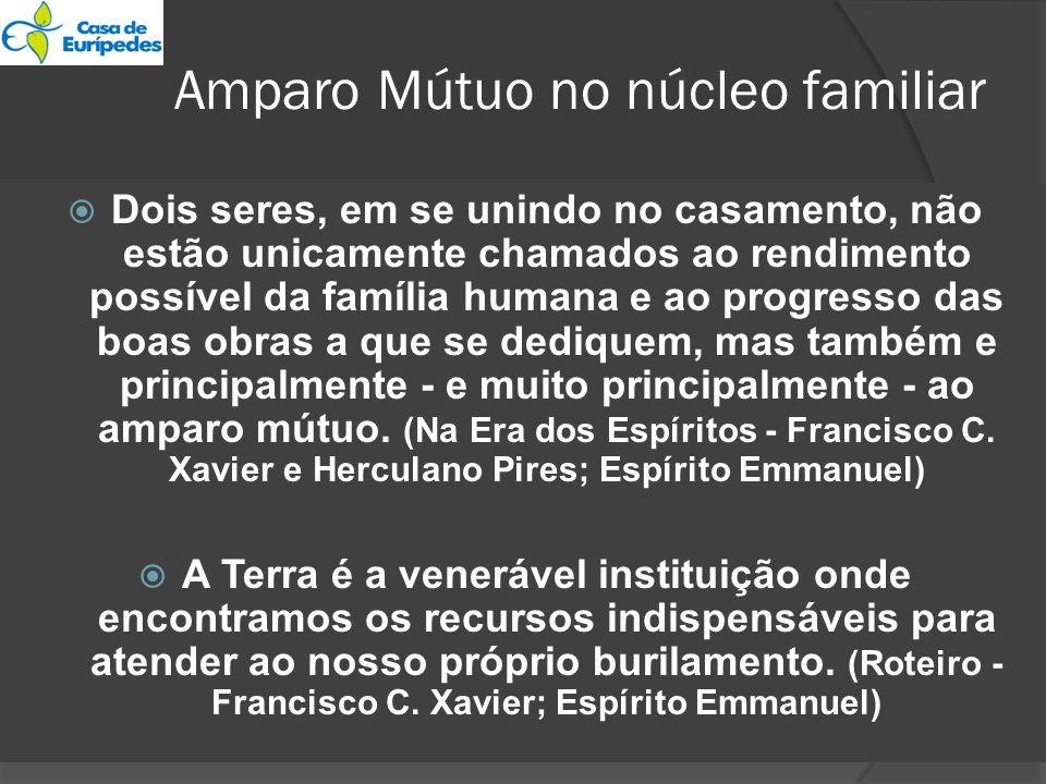 Amparo Mútuo no núcleo familiar Dois seres, em se unindo no casamento, não estão unicamente chamados ao rendimento possível da família humana e ao pro