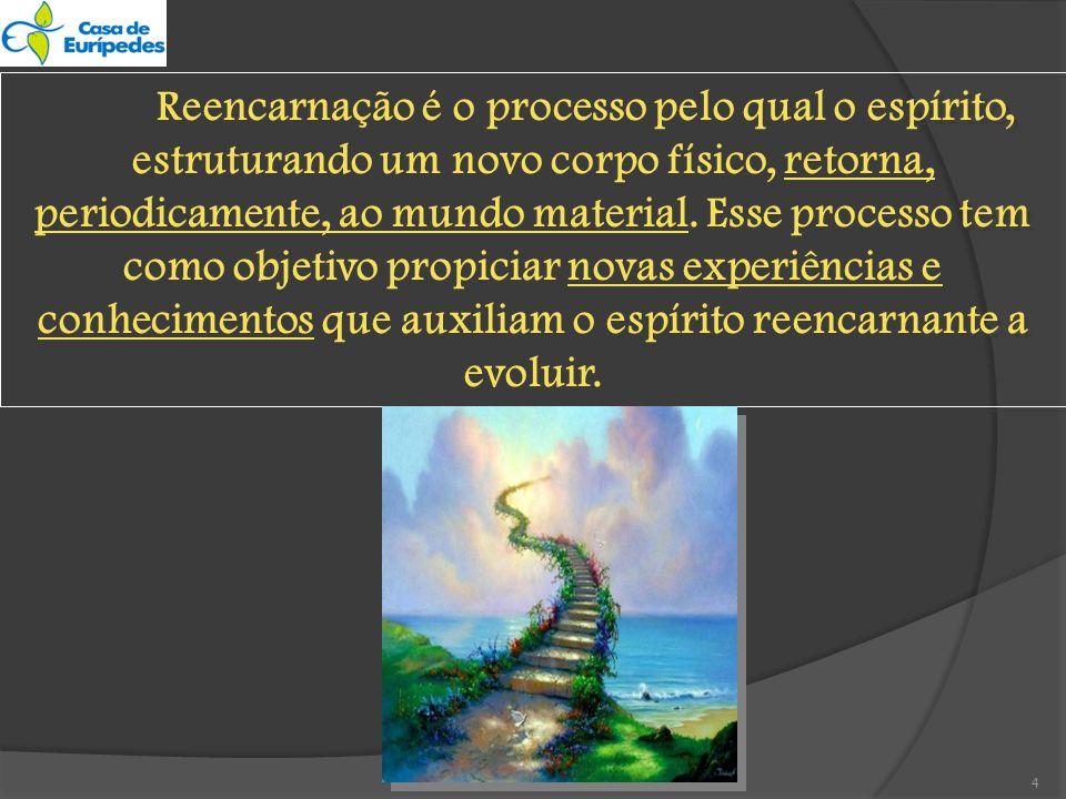 -A reencarnação é a única forma racional por que se pode admitir a reparação das faltas cometidas e a evolução gradual dos seres.