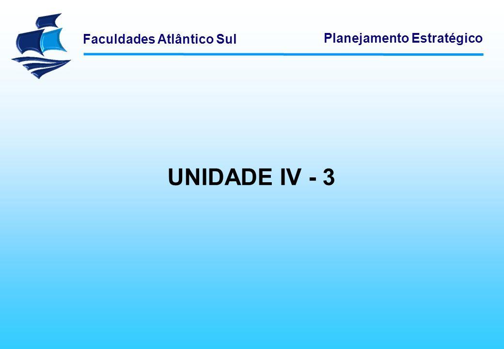 Planejamento Estratégico UNIDADE IV - 3