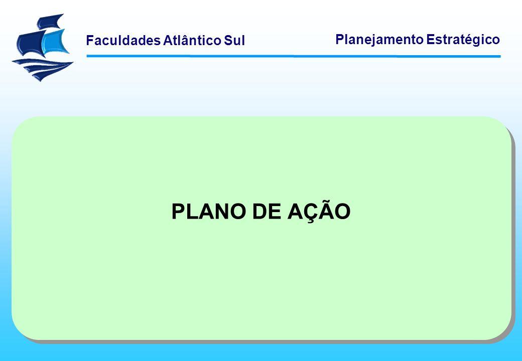 Faculdades Atlântico Sul Planejamento Estratégico PLANO DE AÇÃO
