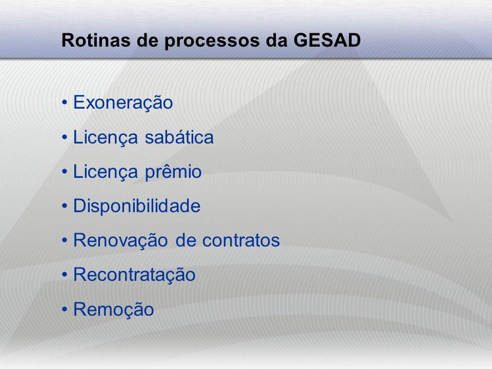 Recomendações da GESAD Para nomeação Justificar a origem da vaga Justificar a necessidade Observar afinidade entre as áreas Atenção aos documentos do processo