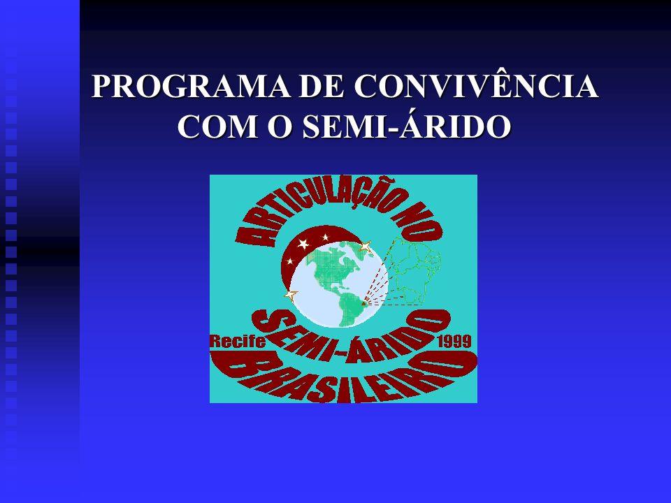 PRINCÍPIOS NORTEADORES nO programa é concebido, executado e gerido pela sociedade civil organizada na ASA.