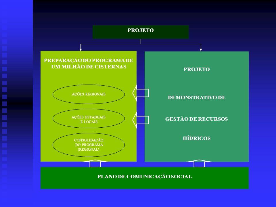 PROJETO UM MILHÃO DE CISTERNAS PARA AS FAMÍLIAS DO SEMI-ÁRIDO FASE 1 Elaboração do Roteiro Metodológico para discussão.Elaboração do Roteiro Metodológ