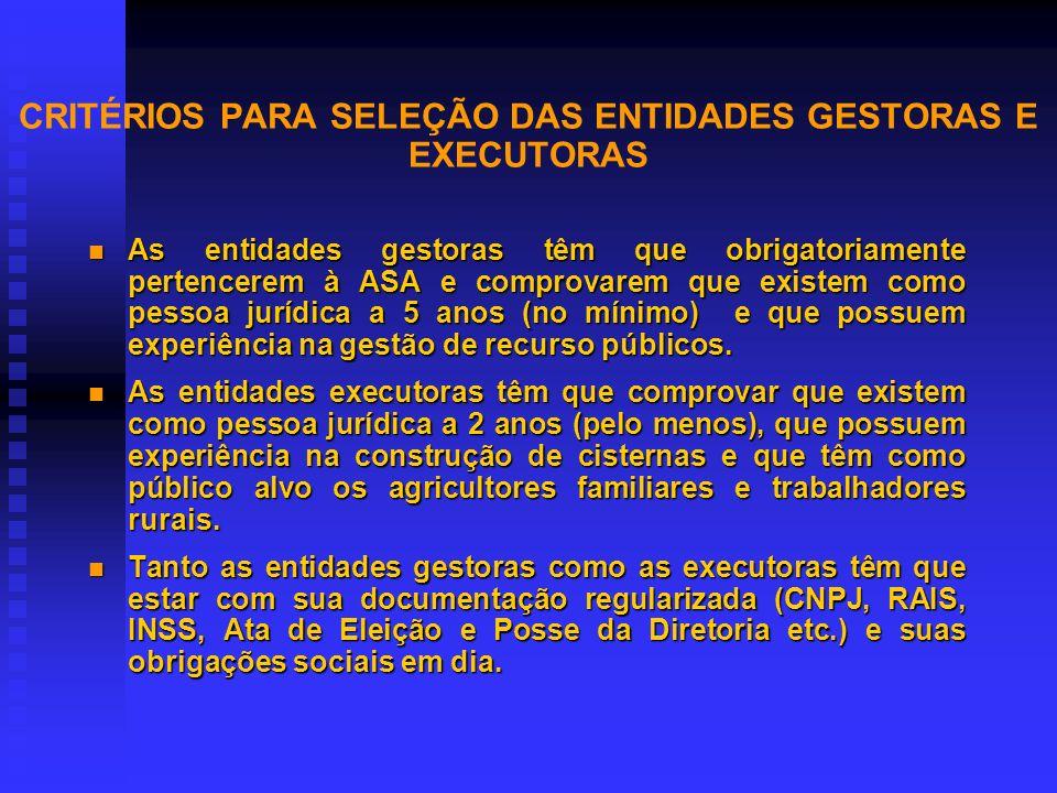 PRINCÍPIOS NORTEADORES n Afirmar os direitos da população de acesso e gestão dos recursos hídricos. n Afirmar a viabilidade do Semi- árido desmistific