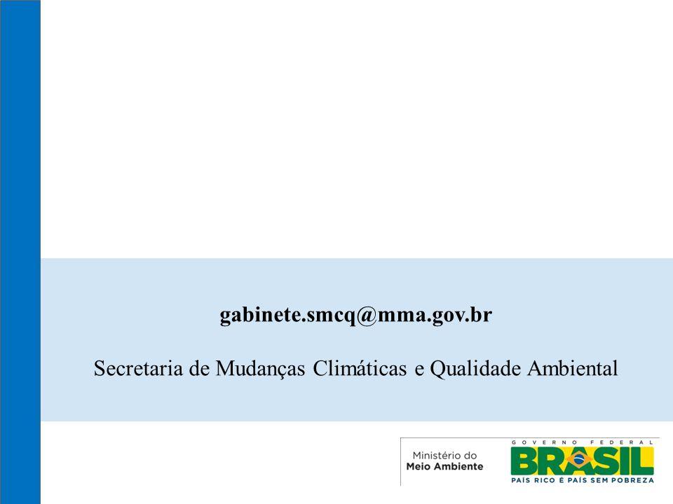 18 gabinete.smcq@mma.gov.br Secretaria de Mudanças Climáticas e Qualidade Ambiental