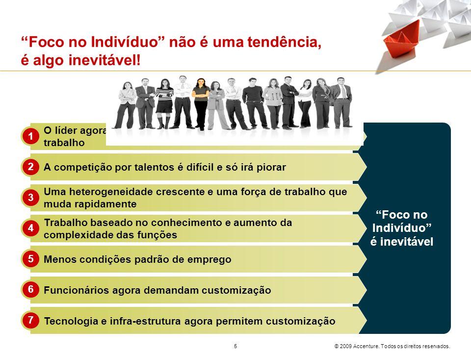 © 2009 Accenture. Todos os direitos reservados. 5 Foco no Indivíduo não é uma tendência, é algo inevitável! Foco no Indivíduo é inevitável O líder ago