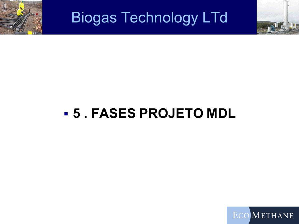 Biogas Technology LTd 5. FASES PROJETO MDL