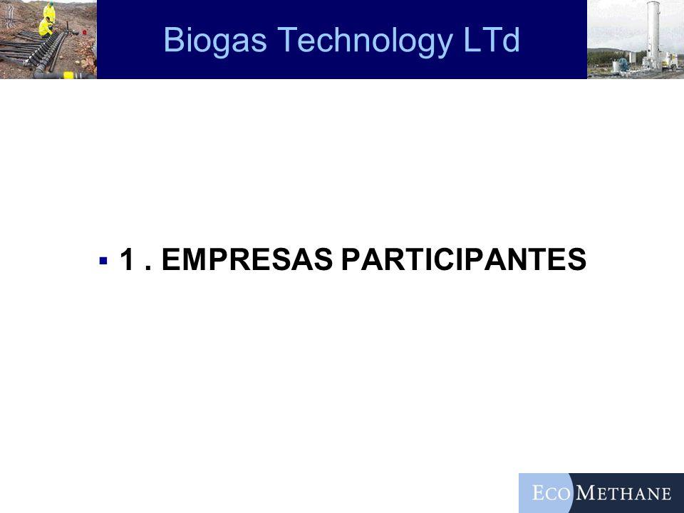 Biogas Technology LTd 1. EMPRESAS PARTICIPANTES