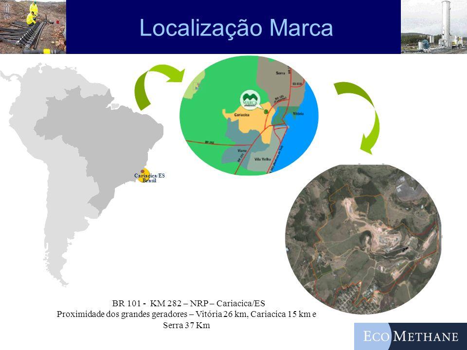 Localização Marca Cariacica/ES Brasil BR 101 - KM 282 – NRP – Cariacica/ES Proximidade dos grandes geradores – Vitória 26 km, Cariacica 15 km e Serra