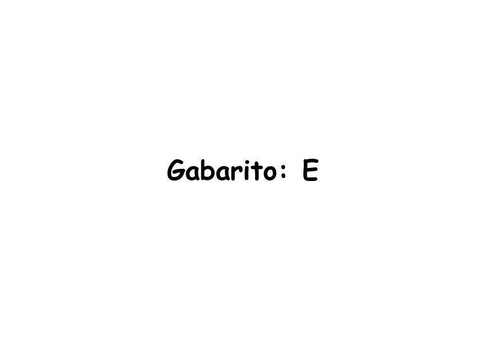 Gabarito: E