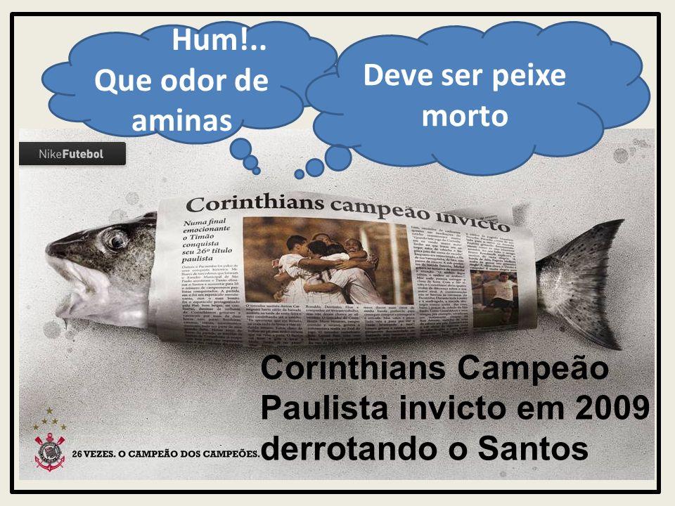 Corinthians Campeão Paulista invicto em 2009 derrotando o Santos Hum!.. Que odor de aminas Deve ser peixe morto