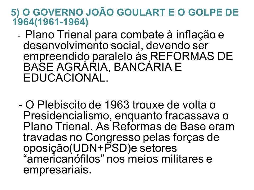 Comício da Central do Brasil(13/03) onde Jango lançou as reformas de base sem a aprovação do Congresso.