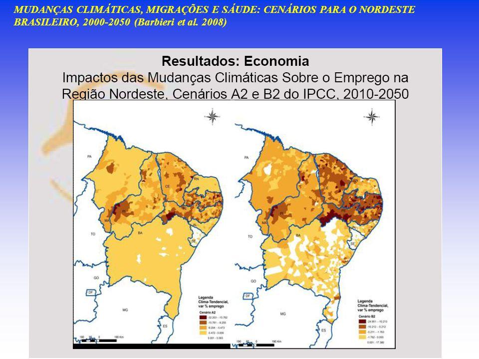 MUDANÇAS CLIMÁTICAS, MIGRAÇÕES E SÁUDE: CENÁRIOS PARA O NORDESTE BRASILEIRO, 2000-2050 (Barbieri et al. 2008)